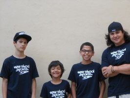 Anthony Azcuy, Jose Castillo, Juan Mercado, Chema New Skool Skate Team skaters