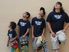 Jose Castillo, Juan Mercado, Anthony Azcuy, Chema New Skool Skate Team skaters
