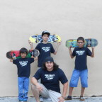 Jose Castillo, Anthony Azcuy, Chema, Juan Mercado, New Skool Skate Team skaters