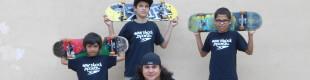 Jose Castillo, Anthony Azcuy, Chema, Juan Mercado, New Skool Skate Team skaters
