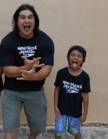 Jose Castillo, father and son, New Skool sports
