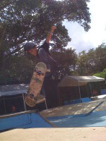 Anthony Azcuy skateboarding pictures, 1 Cool World Skatepark in Coconut Grove, FL. July 12, 2010