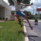 Anthony Azcuy skating at the Hammocks Plaza, NSS Skateboarding Team Miami