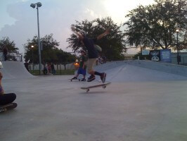 Anthony Azcuy does Pop Shove It at SKATE Competition, July 9, 2011 Miami
