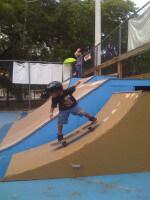 Jose Castillo dropping in at Coconut Grove Skatepark July 12, 2010