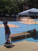 Jose Castillo, skater, skateboarding at One Cool World Skatepark, Miami