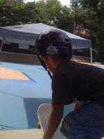 Jose Castillo, skater, skateboarding at One Cool World Skatepark, Miami, 2010