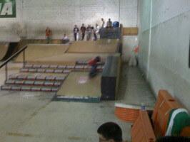 Jose Castillo, age 6, dropping in ramp, MIA Skatepark, Miami, September 25, 2010