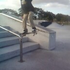 Juan Mercado ollie over stairs, NSS Skateboarding Team Miami