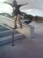 Juan Mercado ollie over stairs, NSS Skateboarding Team Miami