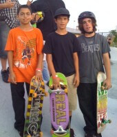 New Skool Skate Team at SKATE competition, Westwind Lakes Skatepark, July 9, 2011. Juan Mercado, Anthony Azcuy