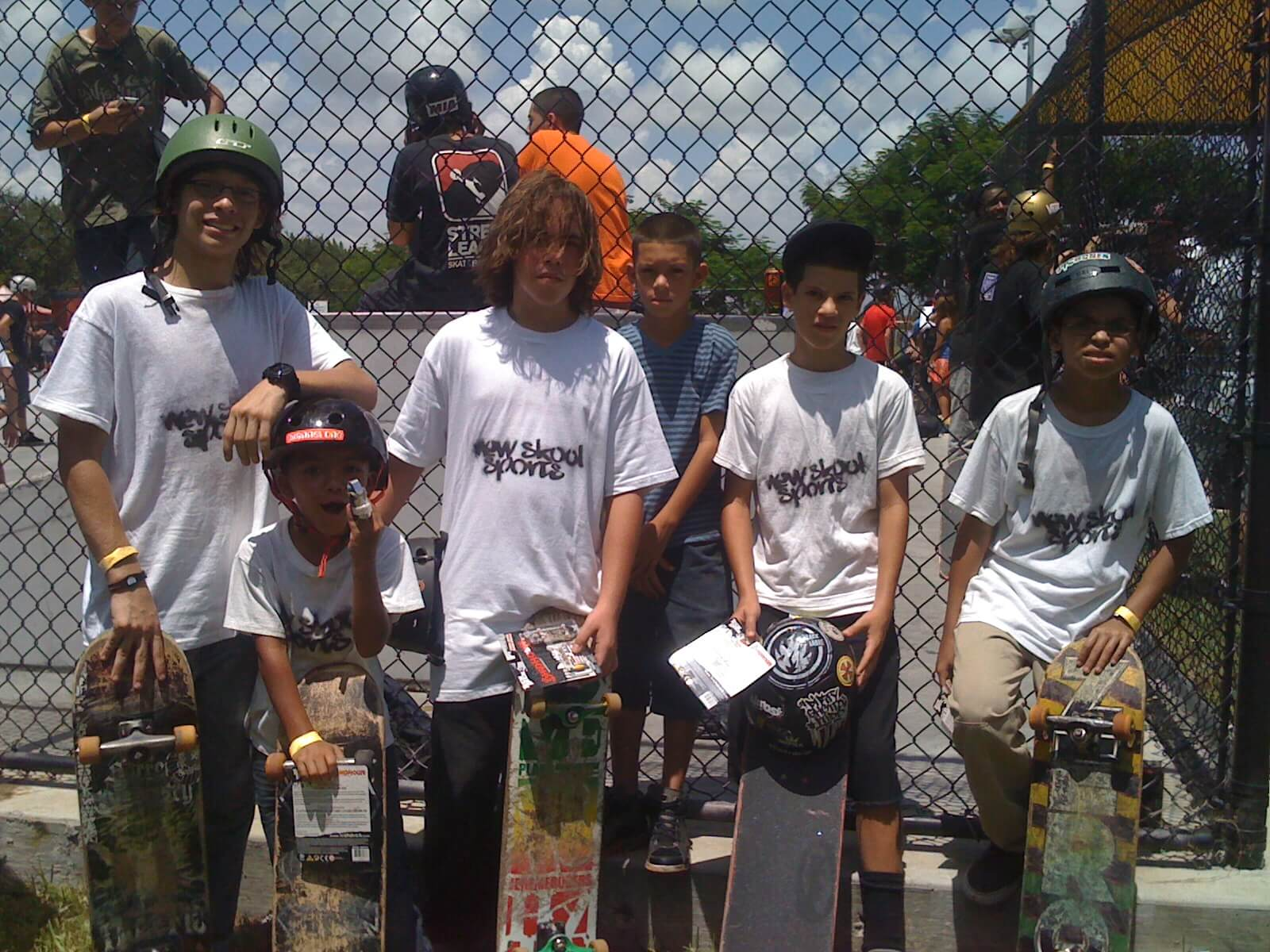 New Skool Skateboarding Team, Jay-jay, Jose, Anthony, Juan