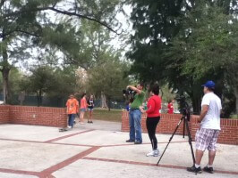 NS Skate TEam video shoot: on set at Amelia Earhart Park, 2012