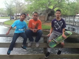 NS Skate TEam: Jose, Anthony, Juan, video shoot: on set at Amelia Earhart Park, 2012