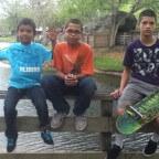 New Skool Skate Team: Jose, Anthony, Juan, video shoot: on set at Amelia Earhart Park, 2012